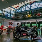 Production (Stock) Aprilia RS Models, a motorcycle on display in a store a Aprilia RS250 Sportbike on display in a store