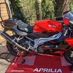 Production (Stock) Aprilia RSV Mille Models, a motorcycle parked on the side of the road a Aprilia RSV Mille Models Sportbike parked on the side of the road