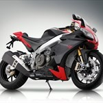 Production (Stock) Aprilia RSV4/RSV4R, a red and black motorcycle a red and black Aprilia RSV4/RSV4R Sportbike