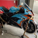 Production (Stock) BMW S1000RR, a motorcycle parked on the side of the road