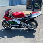 Production (Stock) Bimota V Due, a motorcycle parked on the side of a building