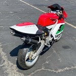 Production (Stock) Bimota V Due, a motorcycle parked on the side of a road