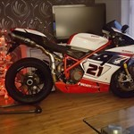 Production (Stock) Ducati 1098/1198, a motorcycle that is sitting on a table a 2007 Ducati 1098/1198 Sportbike that is sitting on a table