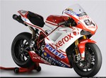 World SuperBike Ducati 1098/1198, a red and black motorcycle a red and black Ducati 1098/1198 Sportbike
