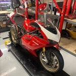 Production (Stock) Ducati 1098/1198, a motorcycle parked on the side a Ducati 1098/1198 Sportbike parked on the side