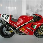 Production (Stock) Ducati 851/888 Superbike, a motorcycle parked on the side of the room a Ducati 851/888 Superbike Sportbike parked on the side of the room