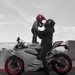 Production (Stock) Ducati 899/959 Models, a person riding a red motorcycle a person riding a red Ducati 899/959 Models Sportbike