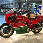 Production (Stock) Ducati 900cc Models, a red motorcycle on display a red Ducati 900cc Models Sportbike on display