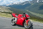 Production (Stock) Ducati 916/996/998, 2002 Ducati 998 Biposto - Midway though a beautiful 325 mile Sunday Loop at Rocky Mtn Nat'l Park, June 2006.