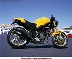 Production (Stock) Ducati Monster Models, Ducati 900 Monster in yellow.