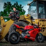 Production (Stock) Ducati Panigale V4, a motorcycle parked on a dirt road
