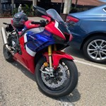 Production (Stock) Honda CBR1000RR, a motorcycle parked in a parking lot