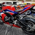 Production (Stock) Honda CBR1000RR, a motorcycle parked on the side
