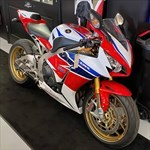 Production (Stock) Honda CBR1000RR, a motorcycle parked on the side a Honda CBR1000RR Sportbike parked on the side