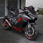 Production (Stock) Honda CBR1000RR, a motorcycle parked on the side of a road