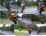 Stunts Honda CBR600F4, I try to keep at least one on the ground at all times...