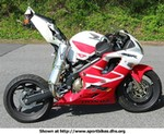 Crash Honda CBR600F4, Decided he wanted the Streefighter Look!!! Now just have to get a seat for it!!!!