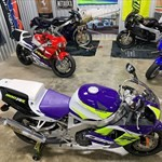 Production (Stock) Honda CBR900RR, a motorcycle parked on the side of a toy a Honda CBR900RR Sportbike parked on the side of a toy