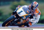 MotoGP Premier Honda NSR500, Nice shot of Mick Doohan in action on the 1999 Repsol Honda NSR500.