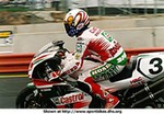 World SuperBike Honda RC45 RVF750, John Kocinski on the Castrol Honda RC45 Superbike.