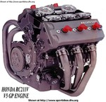 Engine Honda RCV MotoGP Models, Honda's Prototype RC211V -990cc V5 Grandprix Engine for 2002 FIM GP Racing...