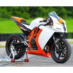 Production (Stock) KTM 1190 RC8, a person riding on the back of a motorcycle a person riding on the back of a KTM 1190 RC8 Sportbike