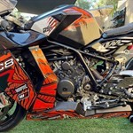 Production (Stock) KTM 1190 RC8, a close up of a motorcycle