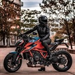 Production (Stock) KTM Duke Series, a man riding on the back of a motorcycle