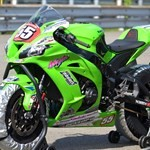 Misc. Racing Kawasaki Ninja ZX-10R, a green motorcycle parked on the side of a road a green 2019 Kawasaki Ninja ZX-10R Sportbike parked on the side of a road