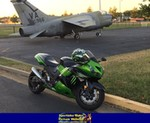 Production (Stock) Kawasaki Ninja ZX-14R, Production (Stock)- Kawasaki  ZX-14/ZZR1400 Sportbike a Kawasaki Ninja ZX-14 parked on the side of a road