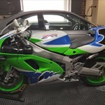 Production (Stock) Kawasaki ZXR Models, UK Spec Zxr750 M1 Homologation special  36 official uk sales a green 1994 Kawasaki ZXR Models Sportbike parked on the side of the road