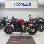Production (Stock) MV Agusta Brutale series, a motorcycle parked on display in a store a 2020 MV Agusta Brutale series Sportbike parked on display in a store