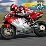 Misc. Racing MV Agusta F4 series, a man riding a motorcycle on a track a man riding a MV Agusta F4 series Sportbike on a track