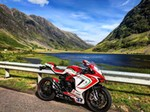 Production (Stock) MV F3, a motorcycle parked on the side of a mountain a 2019 MV F3 Sportbike parked on the side of a mountain