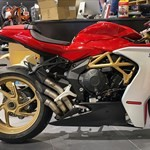 Production (Stock) MV F3, a motorcycle parked on display a MV F3 Sportbike parked on display