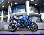 Production (Stock) Suzuki GSX Models, a 2017 Suzuki GSX-S1000 sportbike parked in front of a building