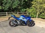 Production (Stock) Suzuki GSX Models, Production (Stock)- 2017  Suzuki  GSX250FX Sportbike a 2017 Suzuki GSX series sportbike parked on the side of a dirt road