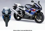 Production (Stock) Suzuki GSX-R1000, 2003 Suzuki GSX R1000 36731.jpg a close up of a 2003 Suzuki GSX-R1000 Sportbike