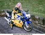 Production (Stock) Suzuki GSX-R600, shaz on her gsxr