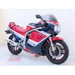 Production (Stock) Suzuki GSX-R750, a motorcycle parked on the side