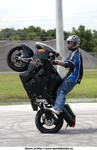 Stunts Suzuki Hayabusa, Kyle Woods of Triple Xtreme busting out a 12o'clock wheelie with his eyes closed on a lowered busa like its his day to day stunt bike