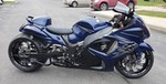 Production (Stock) Suzuki Hayabusa, a motorcycle parked on the side of a road a Suzuki Hayabusa Sportbike parked on the side of a road