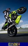 Production (Stock) Triumph Speed Triple, a person riding on a Triumph Speed Triple sportbike