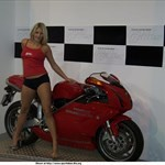 Women Ducati 999, Hot babe with a Ducati 999 motorcycle! a woman sitting on a Ducati 999 sportbike