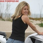 Women Honda CBR929RR/CBR954RR, a woman sitting on a 2002 Honda CBR 929/954 RR sportbike