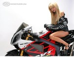 Women Honda RC51 RVT1000R, Hot babe with a Honda RC51 RVT1000R motorcycle!