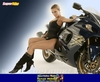 Women Suzuki Hayabusa, Hot babe with a Suzuki GSX1300R Hayabusa motorcycle!