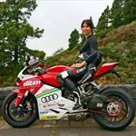 Women Ducati 1199/1299 Panigale, ducati 1199 custom livery woman a person riding a red Ducati 1199/1299 Panigale sportbike