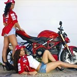 Women Ducati Streetfighter, ducati streetfighter sexy babes a woman wearing a red Ducati Streetfighter
