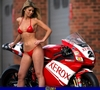 Women Ducati 999, Hot babe with a Ducati 999 motorcycle!